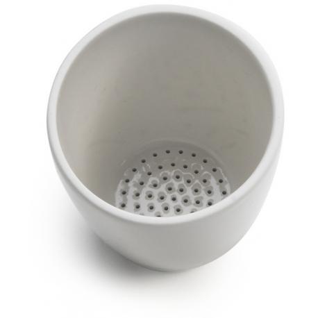 Crisol gooch en porcelana