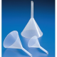 Embudos analíticos plásticos Estriado vastago largo