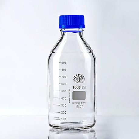 Frascos en vidrio tapa rosca azul vidrio claro línea económica (Uso educativo)