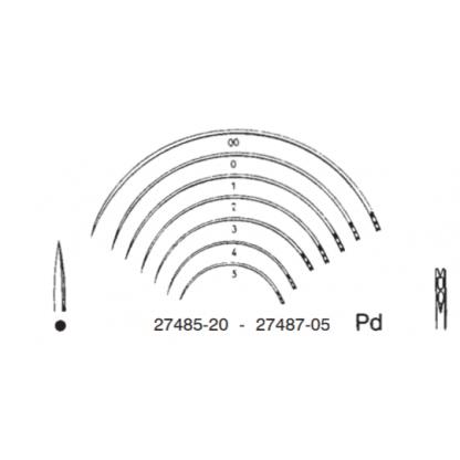 aguja de sutura redonda...