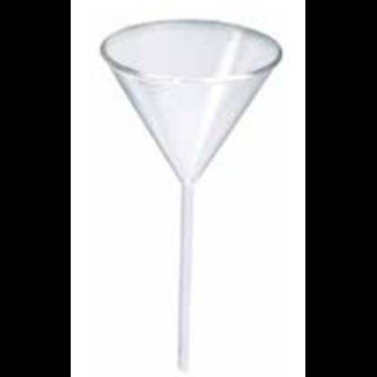 Embudos Analiticos De Vidrio 11241190 100 Mm Vastago Corto Ancho Sin Estrias Para Polvo Fabricado En Vidri Lms