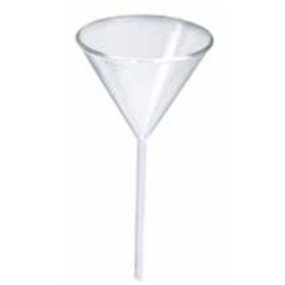 Embudos Analiticos De Vidrio 11241230 120 Mm Vastago Corto Ancho Sin Estrias Para Polvo Fabricado En Vidri Lms