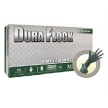 Guantes 100% Nitrilo Dfk - 608 Xl Dura Flock Largos Grueso Verde Oscuro Longitud: 27 Cm Talla Xl Caja X Microflex