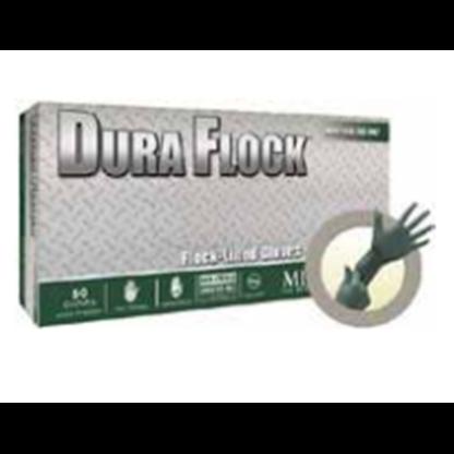 Guantes 100% Nitrilo Dfk - 608 L Dura Flock Largos Grueso Verde Oscuro Longitud: 27 Cm Talla L Caja X Microflex