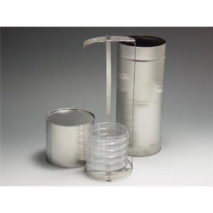 Esterilizador para cajas petri en acero tipo redondo para 10 cajas Ø 100 x 300 mm