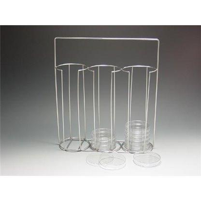 Canastilla para 30 cajas de petri Metálica - Ø 103 X 340 X 38 mm
