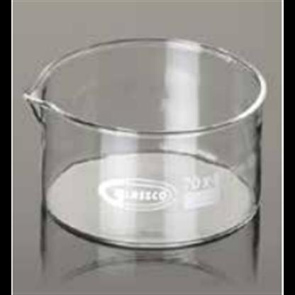 Cristalizador de vidrio fondo plano con pico Capacidad: 170 ml
