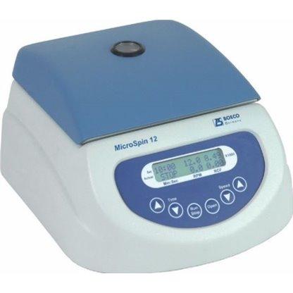 Centrifuga Microspin De 12 Tubos De 1 5 Y 2 0 Ml Con 12 Adaptadores Para Tubos De 0 2 Y 0 5