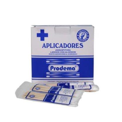 Aplicadores De Madera Con Algodon Prodema Caja X 1000 Unds Y A La Vez En Bolsitas X 20 Es.