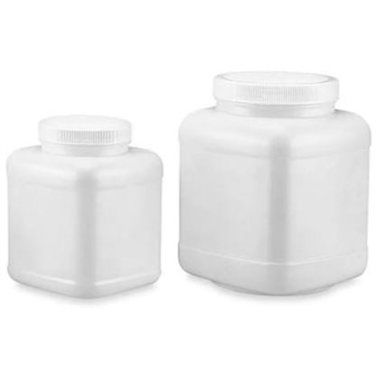 Frascos en plastico Boca ancha cuadrado con tapa Capacidad: 1000 mL