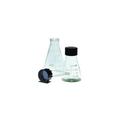Erlenmeyer 075.202.06 1000 Ml En Vidrio Claro Con Tapa Rosca Plástica Fabricado En Vidri Glassco