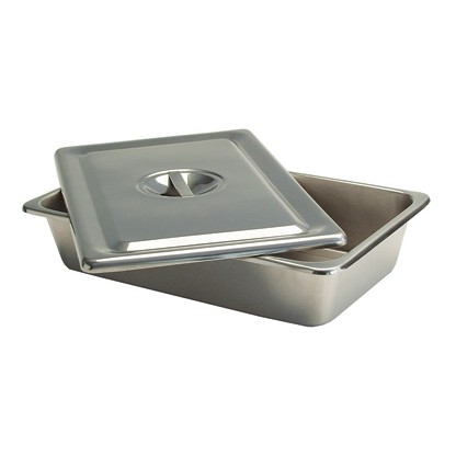 Cubeta Con Tapa En Acero Inoxidable-Ref Im-127 Medidas Aproximadas 31 X 15 X 4 Cms