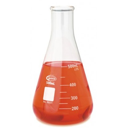 Erlenmeyer 231.202.03 100 Ml En Vidrio Claro Fabricado En Vidrio Borosilicato 3.3 Con Rebor Glassco