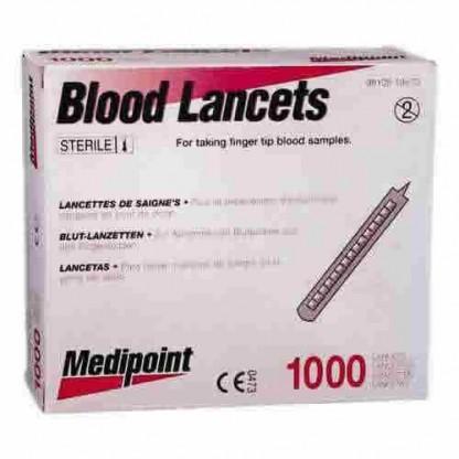 Lancetas Para Muestras De Sangre-