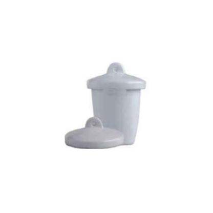Crisoles 18001018 Crisoles De Paredes Gruesas Con Tapa Resistencia A La Temperatura: Has Lab Scient