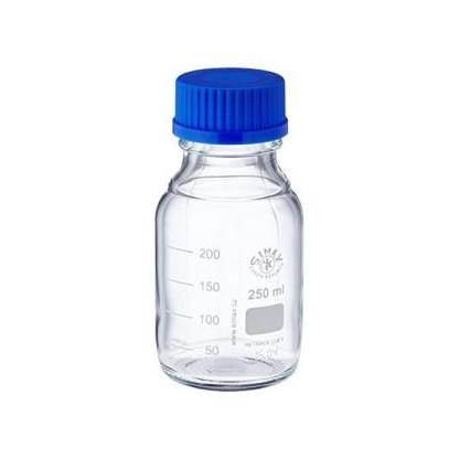 Frasco En Vidrio Tapa Rosca Azul Vidrio Claro Capacidad 250 Ml