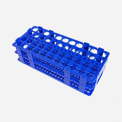 Gradillas En Plástico 566 Azul 40 Tubos De 20 Mm Fabricadas En Polipropileno Sus Orificios Re Polylab