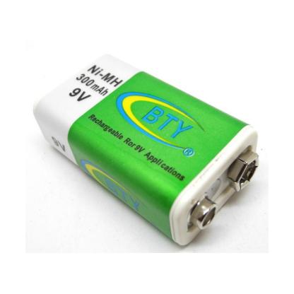 Batería Recargable De 9v 300mah Ni-Mh-