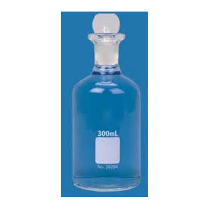 Botella Winkler para DBO Vidrio Claro (Tapa y frasco numerado) Normax Capacidad: 300 ml