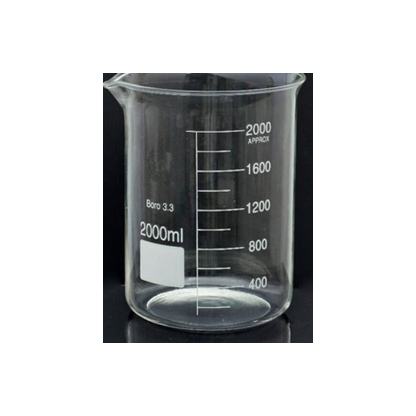 Vasos De Precipitado En Vidrio 5010663 2000 Ml Forma Baja Fabricado En Vidrio Borosilicato 3.3 De Calidad Boeco