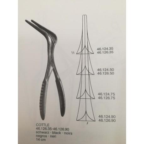 Especulo Nasal de Cottle 75 mm