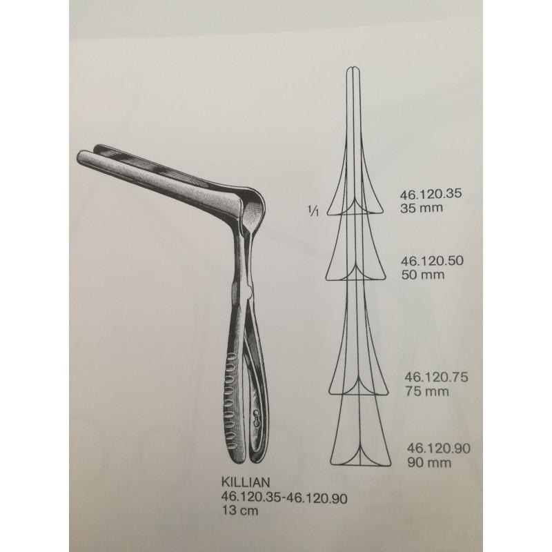 Especulo Nasal Killian No. 2 Valva de 5 mm de Ancho