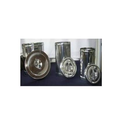 Tarro Para Esterilización Con Tapa-En Acero Inoxidable-Ref Im-188 2 Litros De 12 X 20 Cms