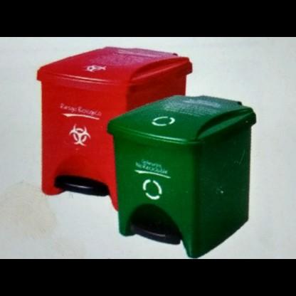 Caneca De Seguridad Biológica 733 - Gris: Papel, Cartón Y Similares. - Capacidad: 20 Lts. Canecas Tipo Lab Scient