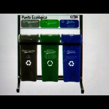 Canecas Ecologicas Ó Punto Ecologico 14069 Colores: Gris - Verde - Azul - Capacidad: 53 Lts. Los Puntos Ecológic Lab Scient
