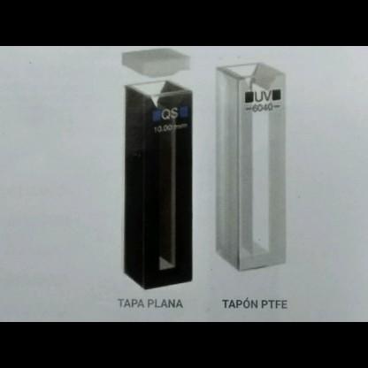Celda (Cubeta) Para Espectofotometro 43101004 Semimicro Con Tapón De Cuarzo Q 10 Mm 4 1,4 Disponible En Cuarzo (Q) Citoglass