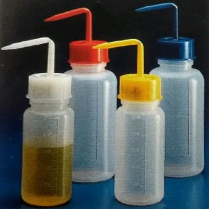 Frascos en Plástico Lavadores Pico o boquilla fija en la tapa tapa - transparente
