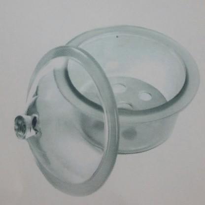 Desecadores En Vidrio Claro 249.202.04 Sin Llave Y Con Placa - 300 Mm Fabricado En Vidrio Neutro Y Muy Grues Lab Scient