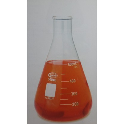 Erlenmeyer 4980-125 125 Ml En Vidrio Claro Fabricado En Vidrio Borosilicato 3.3 Con Rebor Glassco