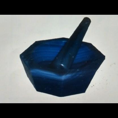 Morteros 530.303.03 De Agata (Granito Negro) Diámetro: 125 Mm - Con Pistilo Material Cri Glassco