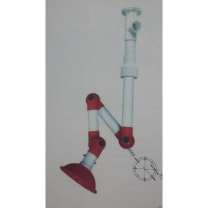 Extractor de humos (gases) Conjunto fabricado en polipropileno (PP), gira 360º.