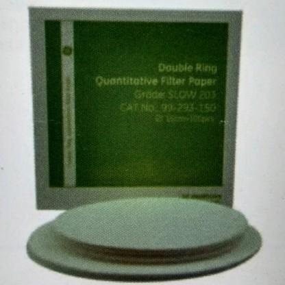 Papel De Filtro Cuantitativo 99-293-150 Dr Exp Qual 15 Cm Paquete X 100 Banda Azul - Grado Lento 203 - Baso4 Whatman