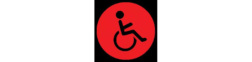 Equipos para asistir a las personas con movilidad reducida o nula.